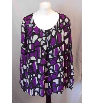 Gallery - Size: 20 - purple and black - Smock top