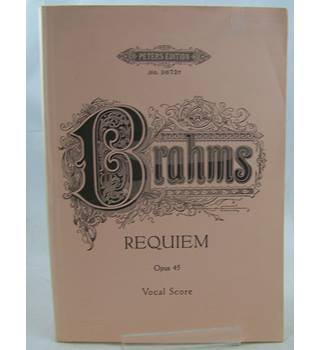Brahms - Requiem. Vocal Score.