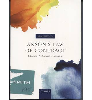 Anson's Law of Contract. 30th ed.