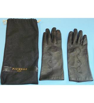Piumelli - Size: S - Black - Gloves