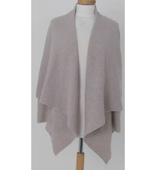Cynthia Rowley Size M Stone Coloured Soft Pure Cashmere Waterfall  Cardigan