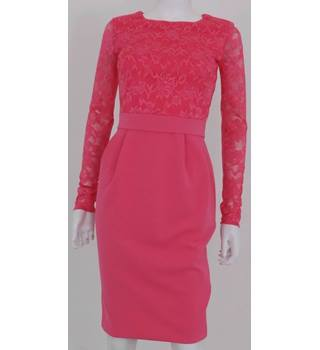 City Goddess London Size: 8 Pink Bodycon Lace Dress