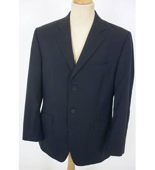 "Jaeger Size: L, 42"" chest, regular fit Navy Blue Smart/Stylish Designer ""Performance"" Wool Single Breasted Jacket"