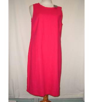 Marks And Spencer Ladies Linen Rich Summer Dress Raspberry Size 8 UK Brand New M&S Marks & Spencer - Size: 8 - Pink