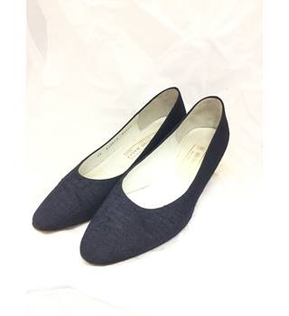 Bruno Magli, size 5/38 blue canvas court shoes
