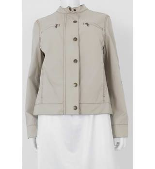 Boden Size: 16 Stone Coloured Understated Cotton Mac