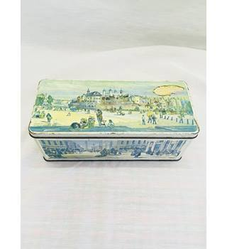 JACOB'S Crackers Biscuits Tower Of London c 1842 Vintage Storage Tin