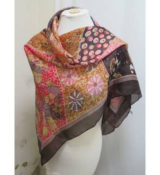 Unbranded brown mix silk scarf