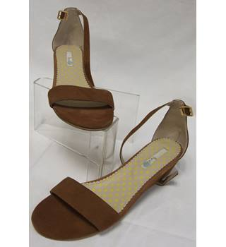 Boden, size 6/39 brown suede wedge heeled sandals