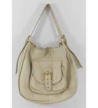 Ted Baker Large Cream Leather Slouchy Tote/Shopper Bag