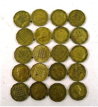 Fifty Thruppenny Bit Coins