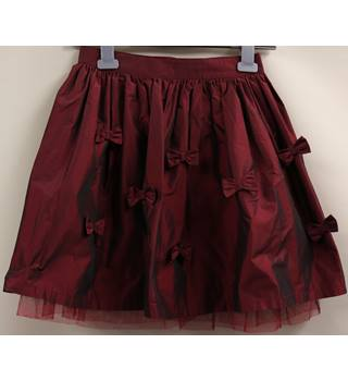 Tafferta Skirt with Bows Next - Size: 8 - 9 Years - Red