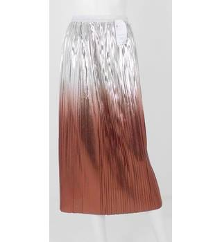 M&S Collection Size 22 Ombre Metallic Pleated Skirt