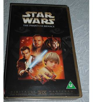 Star Wars the phantom menace vhs U