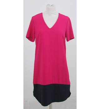 M&S Collection Size: 10 - Pink and black dress