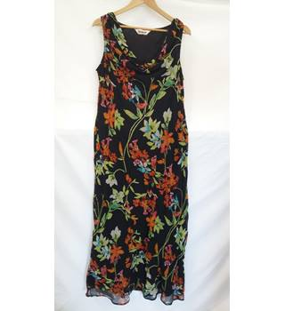 Kaleidescope sleeveless dress cowl neck.size 18 Kaleidescope - Size: 18 - Multi-coloured - Full length dress
