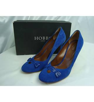 Hobbs Adelphie Sweets Court - True Blue Suede Stilettos , size 7.5