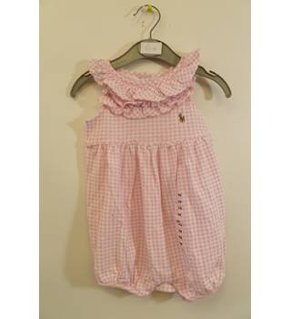 dcf30dce BRAND NEW WITH TAGS PINK GINGHAM RALPH LAUREN GIRL BABY ROMPER SIZE 6M |  Oxfam GB | Oxfam's Online Shop