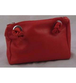 eccaf3b3cc NWOT M amp S Autograph red leather bag with chain shoulder strap