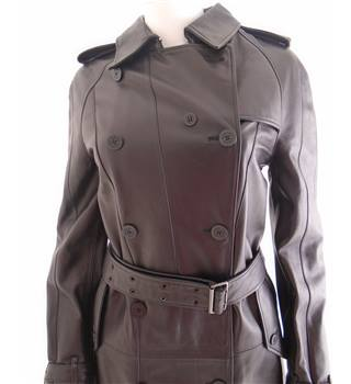 clients first Discover so cheap Burberry Size 8 Black Leather Trench Coat | Oxfam GB | Oxfam's Online Shop