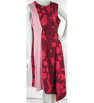 8d682f0b02059 BNWOT M&S Collection - Size: 20 - Pink - Midi Wrap Dress with
