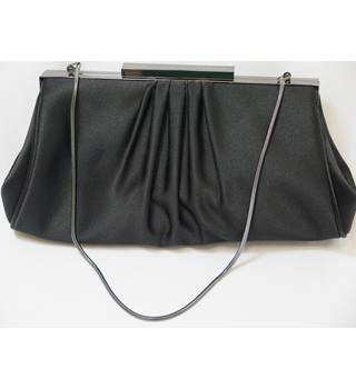Coast Black Satin Effect Evening Bag
