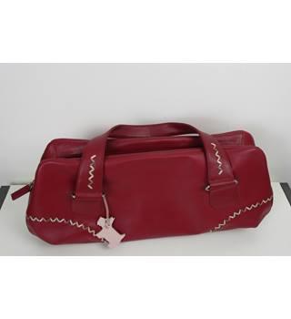 Raspberry Pink Leather Radley Handbag Size One Baguette
