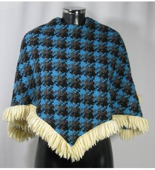 28ccecb21 Vintage Tweed Poncho - Multi - Size XS (approx. Size 6/8)