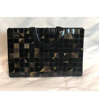 Buffalo Horn Tiled Quilted 1995 Lady Dior Style Handbag Accessorize Size M Brown