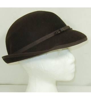 2d091b392cc Unbranded dark brown size 7 felt brimmed hat
