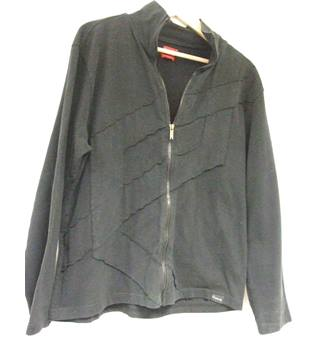 11a6effd5 Cool Firetrap Black zip-thru brushed cotton jacket - Size  L - Black -