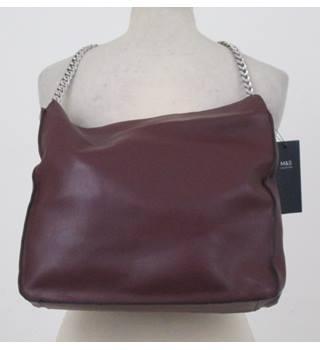 Nwot Ms Collection Burgundy Faux Leather Handbag