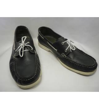 Dark blue deck shoes size 12, Samuel Windsor. Samuel Windsor - Blue - Deck