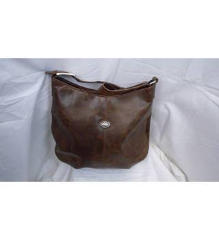 LOVELY BROWN DISTRESSED LEATHER PABLO PICCOLO HANDBAG AND MAKEUP PURSE Pablo Piccolo - Size: M