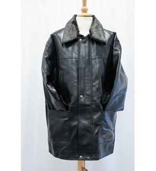 46e5f6833d4 BNWT Italian Style Black PVC Jacket in a Medium to Large Size