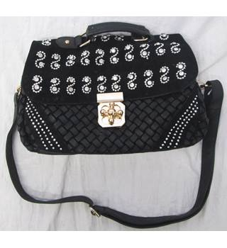 Jewelled Leather Handbag Unbranded - Size  Not specified - Black 4780470ad6