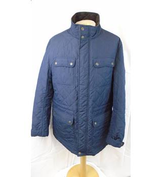 16541e15224 NAVY M amp S BLUE HARBOUR QUILTED COAT SIZE 44 quot  CHEST M amp S Marks