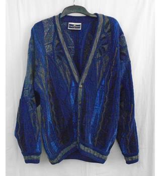 711aa4c65 Carlo Alberti blue mix wool cardigan Size XL