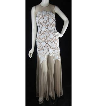 BNWT - Asos Bridal - Size  10 - Bronze with White Lace - Sheer Wedding 9805988885ac