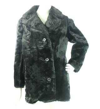 ce98a007c2 VINTAGE Unbranded - Size  12 - Dark Brown - Faux Fur Coat
