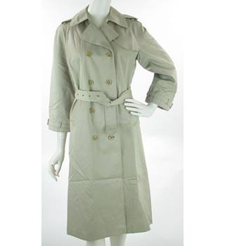 a8a526d8f7 VINTAGE Dannimac - Size  12 - Beige - Double Breasted Belted Trenchcoat