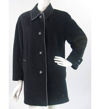 b525858470 VINTAGE Canda at C amp A - Size  12 - Black - Wool Blend Coat