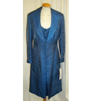 f417064da0 BNWT Frank Usher Size 12 Midnight sky blue Mother of the bride knee length  dress and