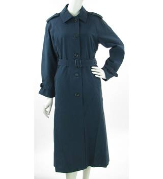 ef4adbb838f VINTAGE Canda for C amp A - Size  12 - Navy Blue - Belted Trenchcoat