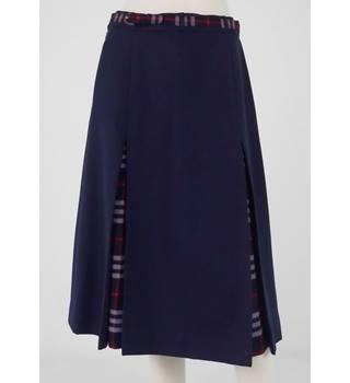 dbcef2041fd Burberry Size  S Blue with Tartan 100% Wool Skirt