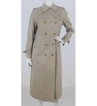 2de0d773d1b Burberry Size L Beige Double Breasted Calf Length Trench Coat
