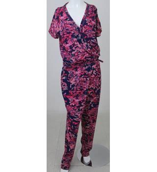 a39b8fa485a NWOT Per Una Size 16 Pink  amp  Blue Mix Foliage-print Jumpsuit