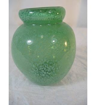 Pottery, Porcelain & Glass Frank Vintage Dartington Cranberry Art Glass Optical Vase Comfortable And Easy To Wear Art Glass
