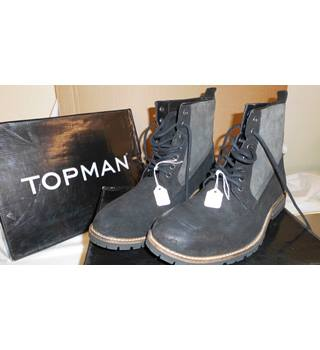 1c4423930ad Mens  quot Clinton quot  Black Boot from Topman Topman - Size  10 - Black