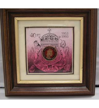 488d9faeecf5 PENNY FACTORY Hand Enamelled Coin in frame